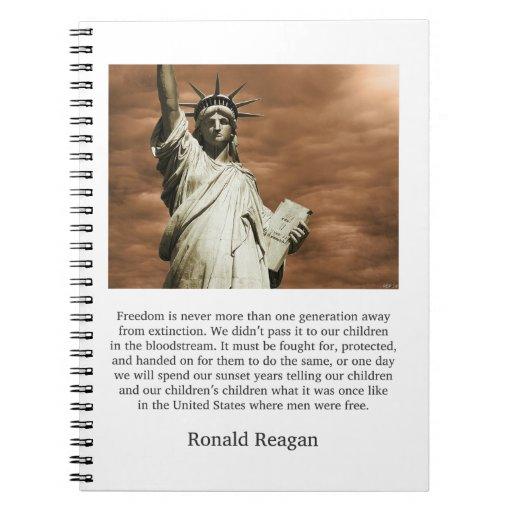Ronald Reagan Freedom Quote Note Books