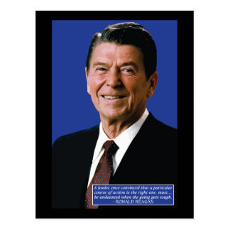 Ronald Reagan Leadership Quote Postcard