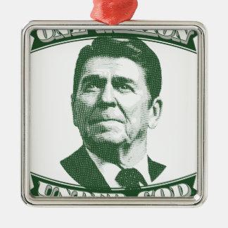 Ronald Reagan One Nation Under God Metal Ornament