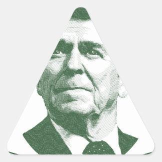 Ronald Reagan One Nation Under God Triangle Sticker