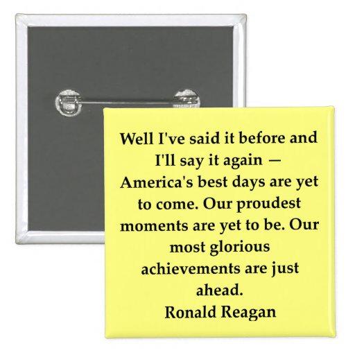 ronald reagan quote pin