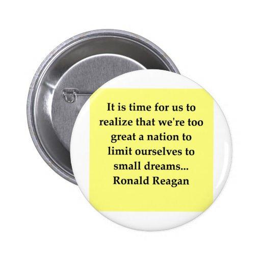 ronald reagan quote pinback button