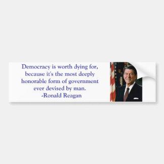 Ronald Reagan Quote Bumper Sticker Car Bumper Sticker