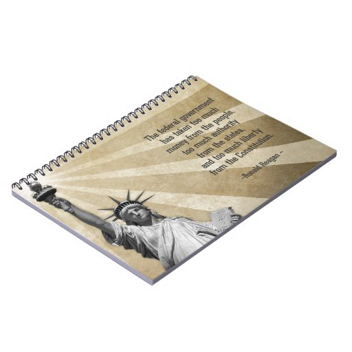 Ronald Reagan Quote Spiral Note Books