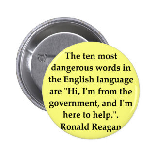 ronald reagan quote pinback buttons