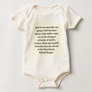 ronald reagan quote baby bodysuits