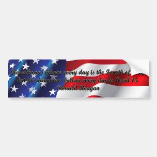 Ronald Reagan Quotes Car Bumper Sticker