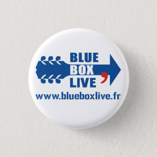 Rond Blue Box Live swipes in 3 Cm Round Badge