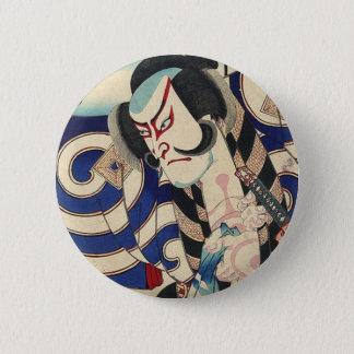ronin bushido sword fighting japanese samurai 6 cm round badge