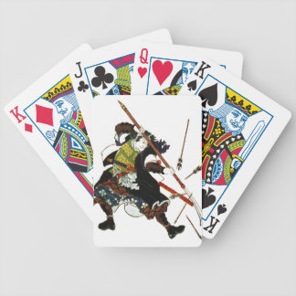 Ronin Samurai Deflecting Arrows Japanese Japan Art Bicycle Playing Cards