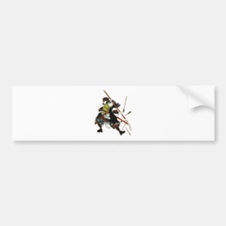 Ronin Samurai Deflecting Arrows Japanese Japan Art Bumper Sticker