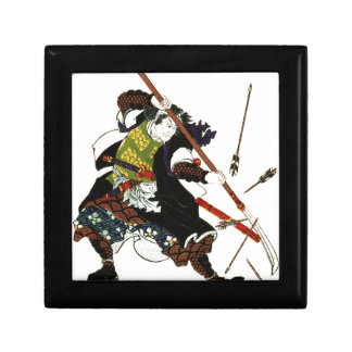 Ronin Samurai Deflecting Arrows Japanese Japan Art Gift Box
