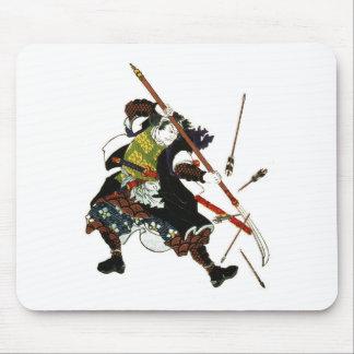 Ronin Samurai Deflecting Arrows Japanese Japan Art Mouse Pad
