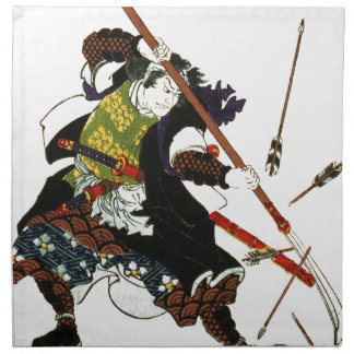 Ronin Samurai Deflecting Arrows Japanese Japan Art Napkin
