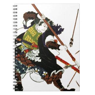 Ronin Samurai Deflecting Arrows Japanese Japan Art Notebooks