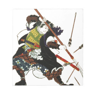 Ronin Samurai Deflecting Arrows Japanese Japan Art Notepad