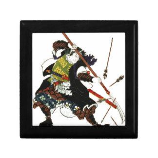 Ronin Samurai Deflecting Arrows Japanese Japan Art Small Square Gift Box