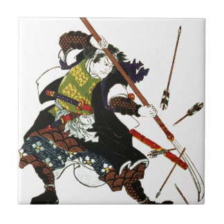Ronin Samurai Deflecting Arrows Japanese Japan Art Tile