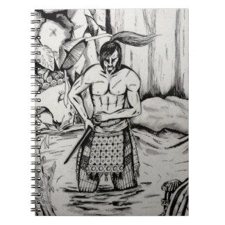 Ronin Samurai Spiral Note Book