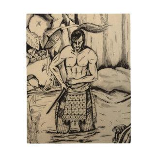 Ronin Samurai Wood Print