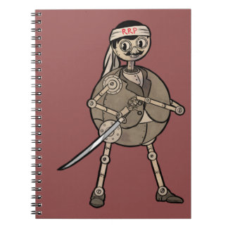 Ronnie - the Ronin Robot Mascot Spiral Notebooks