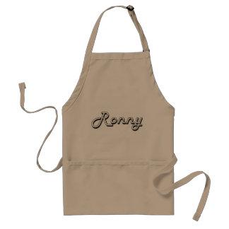 Ronny Classic Retro Name Design Adult Apron