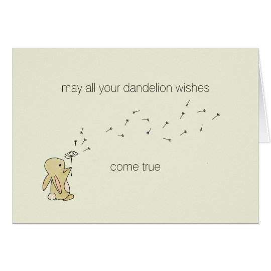 Roo Bunny - Dandelion Wishes Card