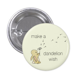 Roo Bunny - Make a Dandelion Wish 3 Cm Round Badge