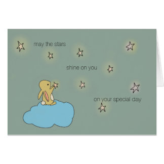 Roo Bunny - May the Stars Shine on You Card