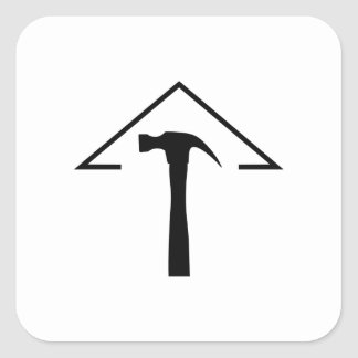 ROOF AND HAMMER SQUARE STICKER