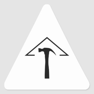 ROOF AND HAMMER TRIANGLE STICKER