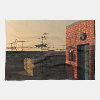 Roof in New York Tea Towel