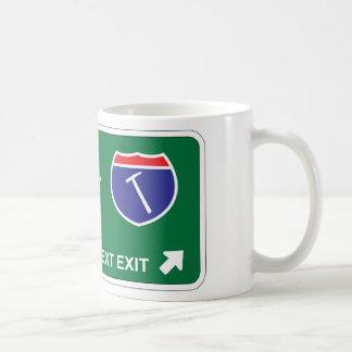 Roof Next Exit Coffee Mug