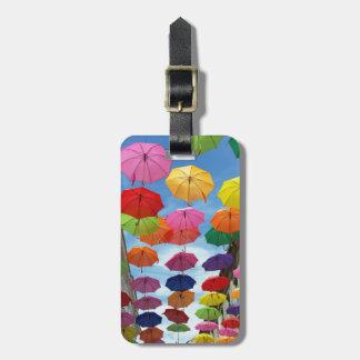 Roof of umbrellas luggage tag