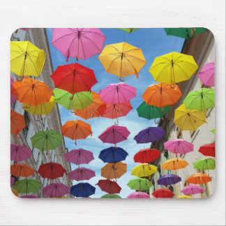 Roof of umbrellas mouse pad