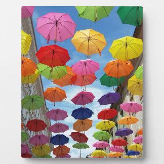 Roof of umbrellas plaque