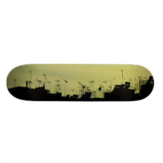 Roof shadows. 21.3 cm mini skateboard deck