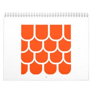 Roof tile wall calendars
