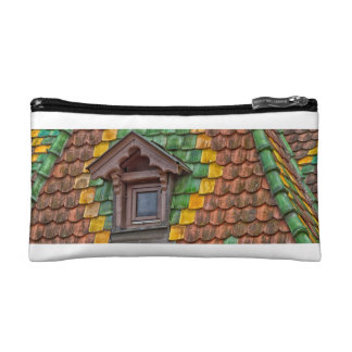 roof tiles with color in Obernai - Alsace - France Cosmetics Bags