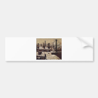 Roof under the Snow, Paris by Gustave Caillebotte Bumper Sticker