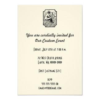 Roofer 13 Cm X 18 Cm Invitation Card