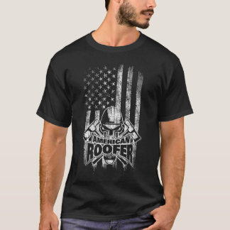 Roofer American Flag T-Shirt
