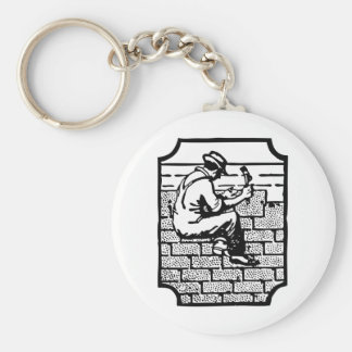 Roofer Basic Round Button Key Ring