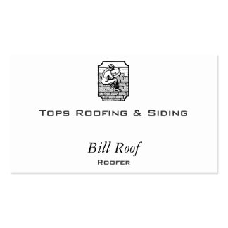 Roofer Double-Sided Standard Business Cards (Pack Of 100)
