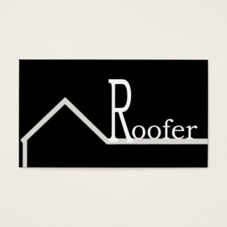 Roofer Business Card Black