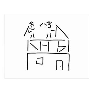 roofer carpenter brick postcard