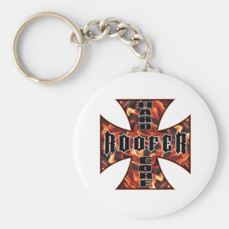Roofer Hard Core Basic Round Button Key Ring
