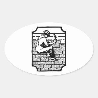 Roofer Oval Sticker