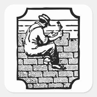 Roofer Square Sticker
