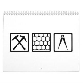 Roofer tools wall calendars